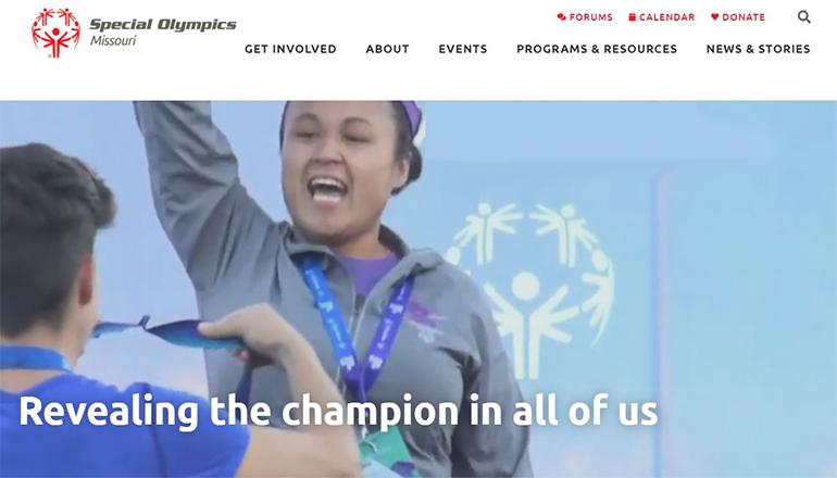 Special Olympics Missouri 2021 Website