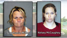 Stephanie Miller and Kelsey McCaughey Booking Photos via Trenton Police Department