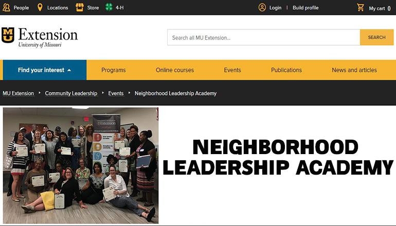 University of Missouri Extension Neighborhood Leadership Academy