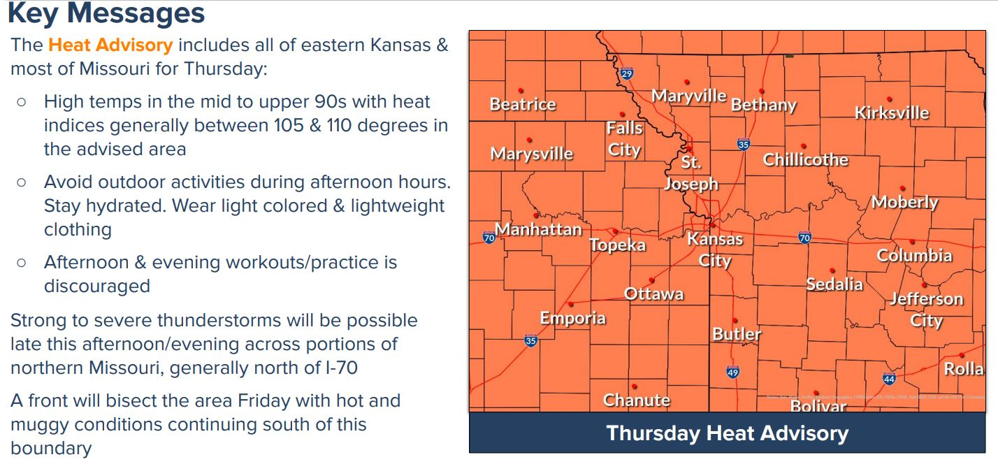 heat advisory coverage
