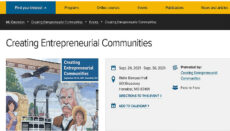 Creating Entrepreneurial Communities Conference
