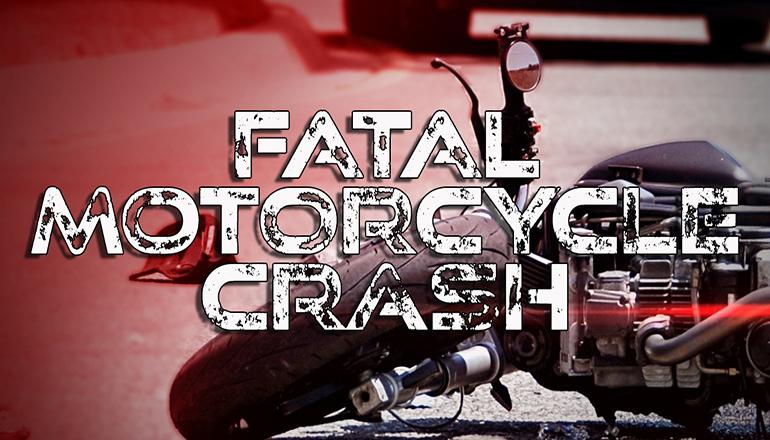 Fatal Motorcycle Crash News Graphic