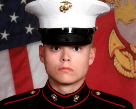 20-year-old Marine Lance Corporal Jared Schmitz of Wentzville