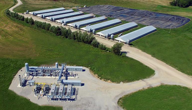 Monarch Bioenergy Gas Plant on Smithfield Farm