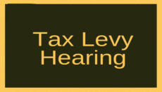 Tax Levy Hearing