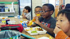 Children eating lunch in a school cafeteria (Photo by CDC on Unsplash)
