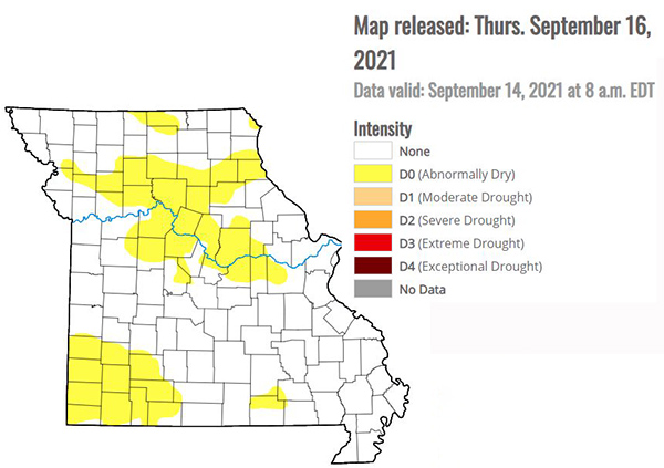 Drought Map September 16, 2021