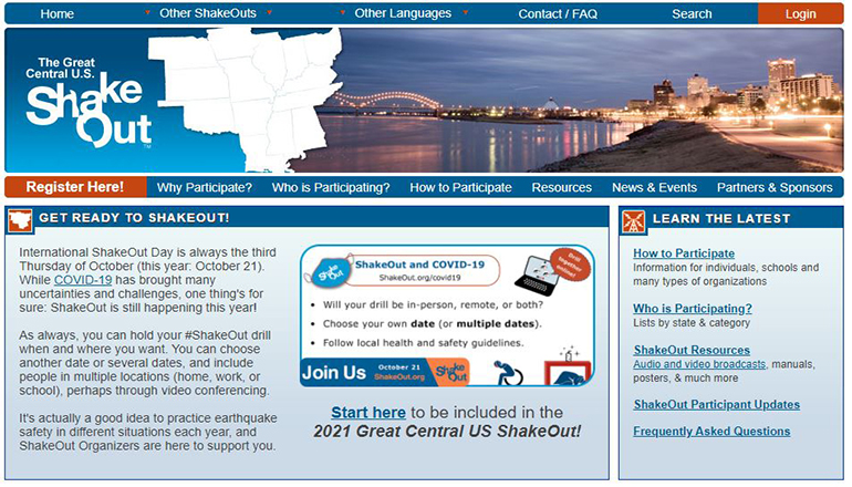 Great Central US ShakeOut