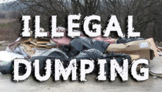 Illegal dumping news graphic