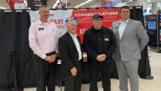 Legendary Customer Service Award from left to right, Chad Boyd, Tim Michael, Keith Herring of the Trenton store