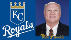 Mike Arbuckle with Royals Logo