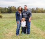 Mitch Dunlap of Albany with wife Cassidy and daughter Whitney