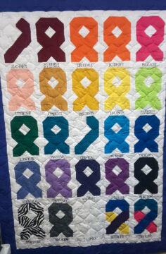 Quilt to be raffled off for cancer awareness (Click to enlarge)