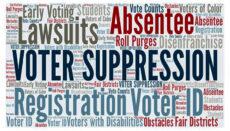 Voter Suppression news graphic