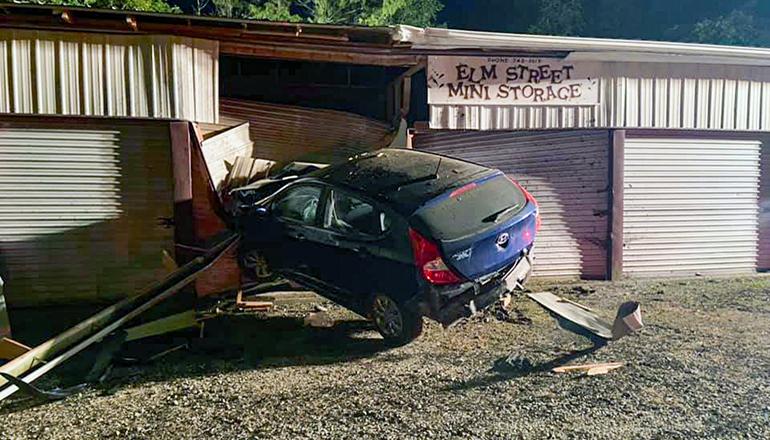 car crashes into Princeton building