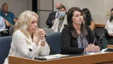 Acting Department of Social Services Director Jennifer Tidball and Interim Children's Division Director Joanie Rogers testify during a House Children and Families Committee hearing