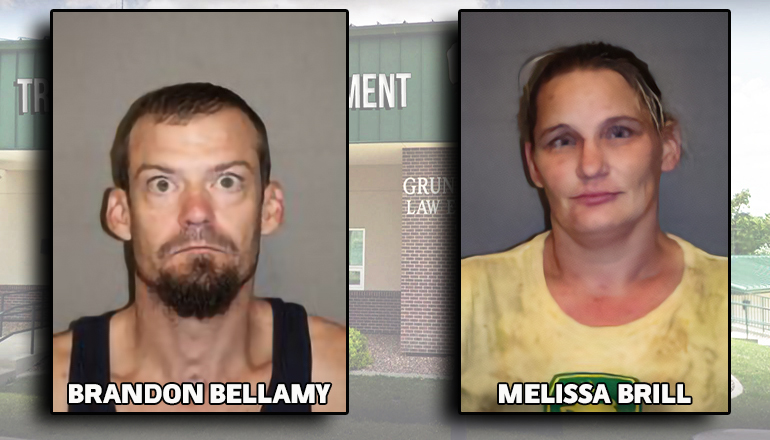 Brandon Bellamy and Melissa Brill Booking Photo from TPD