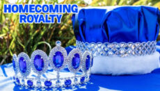 Homecoming Royalty in Blue and White (Princeton Colors)
